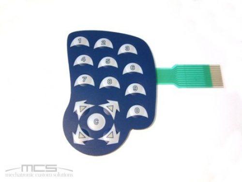 Tastiera a membrana retroilluminabile