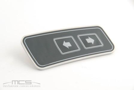 Tastierino con supporto in alluminio