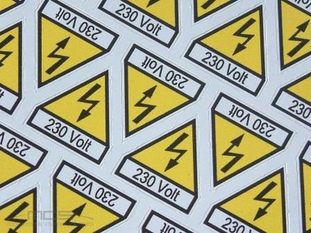Etichetta in PVC Fustellata