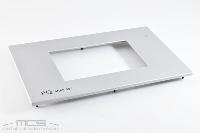 cornice display in alluminio per elettronica